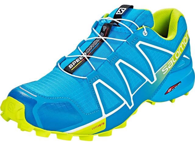 Salomon Speedcross 4 Shoes Men Hawaiian Surf/Acid Lime/White